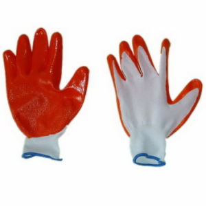 13gauge Knitted Work Safety Glove Coated Red Nitrile (JMC-383A) pictures & photos