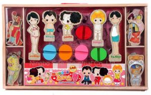 Doll Dress up Blocks&Magnetic Wooden Change Clothes Puzzle pictures & photos