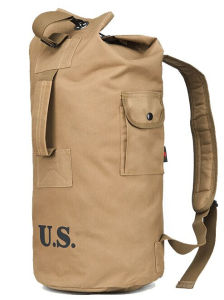 Hot Sale Heavy Duty Army Green Durable Men′s Military Haversack Backpack with Padded Straps