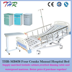 4 Cranks Manual Hospital Bed pictures & photos