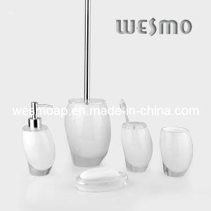 Transparent Polyresin Bathroom Accessories Set (WBP0244C) pictures & photos
