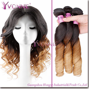 Natural Spring Curl Ombre Hair Remy Human Hair Extension pictures & photos
