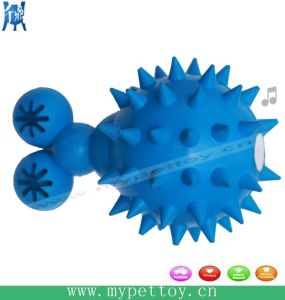 Soft Rubber Spike Bone Squeaky Dog Toy pictures & photos