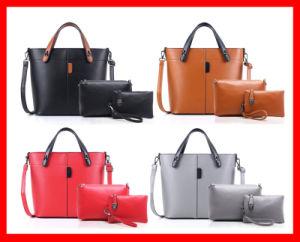 3 in 1 Ladies Handbag 3 Piece Clutch Purse Set PU Make up Bag Set