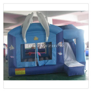 Popular Style Dolphin Theme Inflatable Combo Bouncy Castle