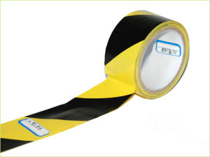 SGS Certification PE Yellow and Black Stripes Printing Barrier Tape pictures & photos