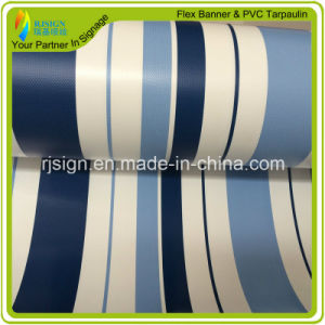 High Quality Coated Stripe PVC Tarpaulin for Tent Turck Covers PVC Tarpaulin pictures & photos