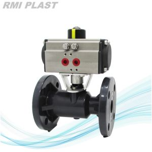 PP Pneumatic Control Ball Valve by Double Acting pictures & photos