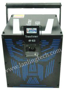 Transformer 4W RGB 25kpps Ilda Analogue Modulation Animation Logo Laser Light pictures & photos