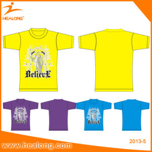 Healong Sportswear Plus Size Digital Textile Printing Original T-Shirt pictures & photos