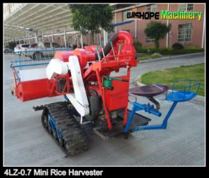 9.7kw Engine Power Light Structure Mini Rice Harvester pictures & photos