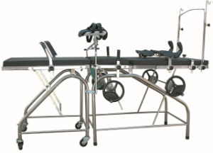 Stainless Steel Obstetric Bed (model QZC-83A) pictures & photos
