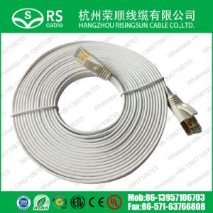 550MHz Gigabit CAT6 Flat Ethernet Patch Cable with RJ45 Connector