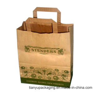 Brown Kraft Paper Kraft Shopping Paper Bag pictures & photos