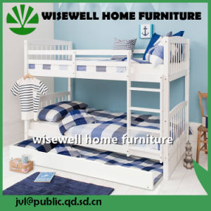Pine Wood Single Bunk Bed with Trundle (WJZ-B716) pictures & photos