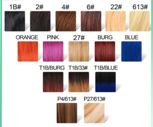 Virgin Brazilian Straight Hair Clip in Human Hair Extensions 10PCS/Set Ombre Color Clip in Hair Extension 100g/Set pictures & photos