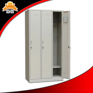 Office Cabinet Furniture Metal Three Doors Cupboard pictures & photos