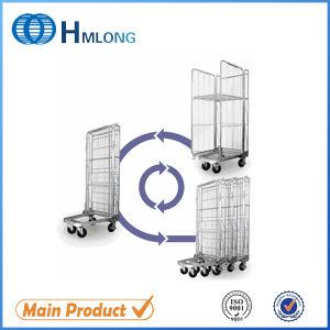 Medium Duty Metal Zinc Folding Roll Trolley pictures & photos