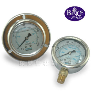 "0-6bar 2.5"" All Stainless Steel Oil Pressure Gauge pictures & photos"
