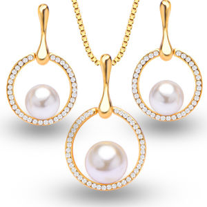 Fashion Pearl Silver Jewelry Set Wholesales pictures & photos