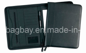 A4 Leather Portfolio with Zipper (PFBG09-001)