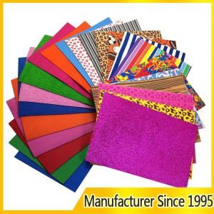 EVA Foam Sheet Wholesale Thin Color Glitter Adhesive Craft Goma EVA Sheet (EVA-1)