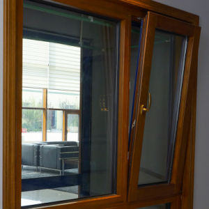Aluminum Cladding Oak Wood Windows