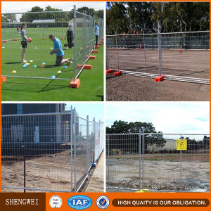 Pedestrian Control Easy Install Temporary Fencing Stands Concrete pictures & photos