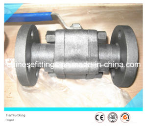 Handle Three Pieces API Trunnion Flange Forged Ball Valve pictures & photos
