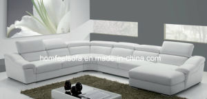 Modern Chinese Sectional Leather Lounge Corner Fabric Sofa (F303#)