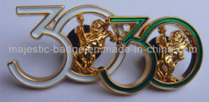 3D Soft Enamel Gold Plated Cut to Shape Pin pictures & photos