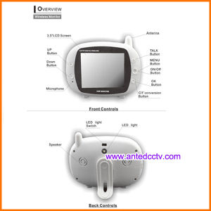 3.5 Inch LCD Wireless Digital Baby Monitor with Music Player & Temperature Detection pictures & photos