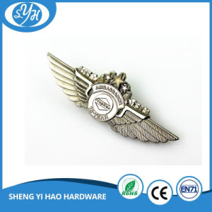 3D Engraving Metal Polit Wing Badge pictures & photos