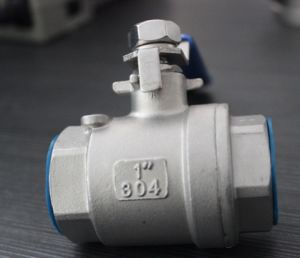 2PC Stainless Steel Threaded Ball Valve (Q11F-25P) pictures & photos