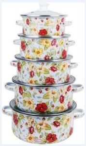 5 PCS Enamel Casserole with Full Decal Lfc1151d pictures & photos