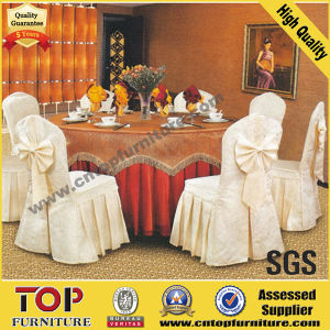 White Banquet Polyester Chair Cover with Bow pictures & photos