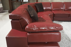 Modern Leisure Leather Corner Sectional Living Room Sofa pictures & photos