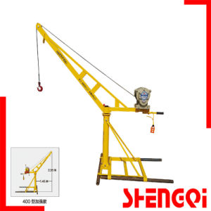 Outside Mini Crane Using Lifting Building Material 400kg pictures & photos