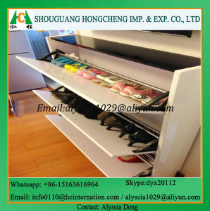 White Wood Shoe Cabinet pictures & photos