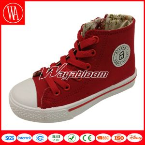 Deep Open Canvas Casual Shoes for Children pictures & photos