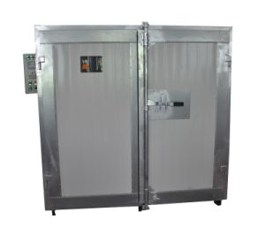 Electric Powder Coating Oven with Trolley and High Efficiency Burner pictures & photos