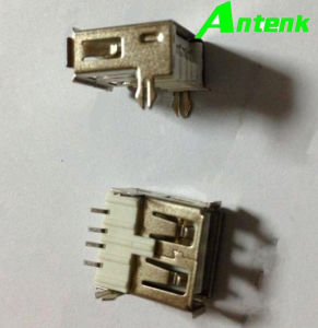 USB a Female SMT 4p with Fork Type Connectors pictures & photos