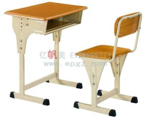Moulded Board Adjustable Table Height Adjustable School Desk and Chair Sf-03A pictures & photos