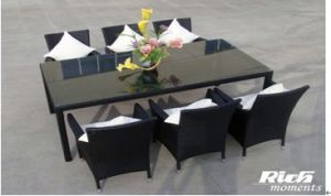 Alu. Rattan Dining Set (FH2241) pictures & photos