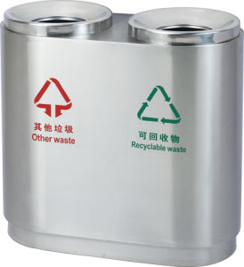 Stainless Steel Street Waste Bin for Airport (HW-94) pictures & photos