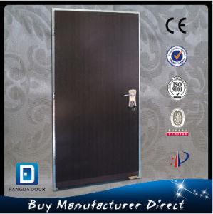 Fangda Wrought Iron Security Door, Israeli Security Door in Black Walnut Color pictures & photos