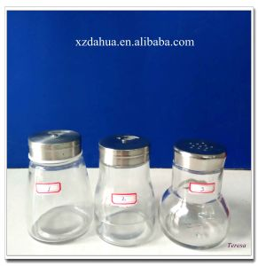 Clear Glass Spice Shaker Jars with Lid pictures & photos