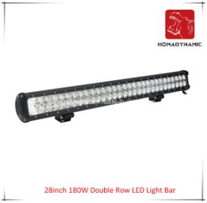 LED Car Light of 28inch 180W Double Row LED Light Bar Waterproof for SUV Car LED off Road Light and LED Driving Light pictures & photos