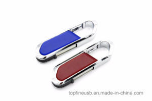 Leather USB Flash Drive 4GB 8GB 16GB 32GB Keychain Pendrive 64GB Flash Memory Stick Pen Drive pictures & photos