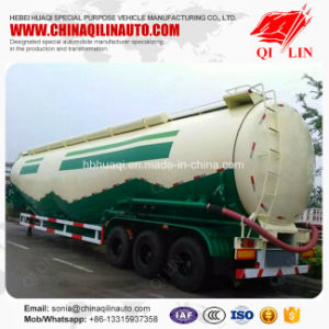 Qilin Cheap Price 40FT 50cbm Carbon Steel Powder Particle Tanker Semi Trailer pictures & photos